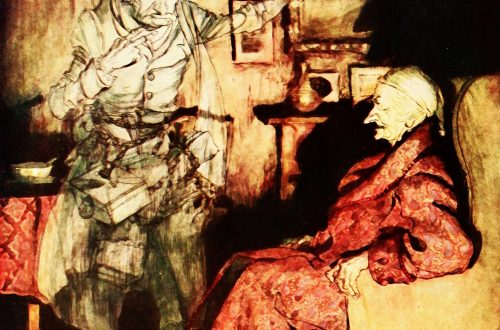 Vintage Scrooge illustration by Arthur Rackham