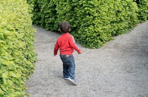 child choosing direction